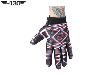 SHADOW UHF Gloves -Black/White/Red- [4 Sizes]