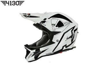 2016 Airoh Fighters Millenium Helmet Gloss White / Black (에어로 파이터스 밀레니엄 헬멧)