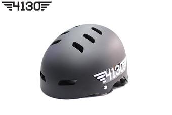 4130 BMX 하프 헬멧 [조절식 프리사이즈] -Matte Black-