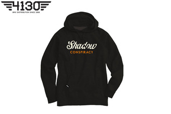 SHADOW Ensign Hooded Pullover Sweatshirt Black -XL-