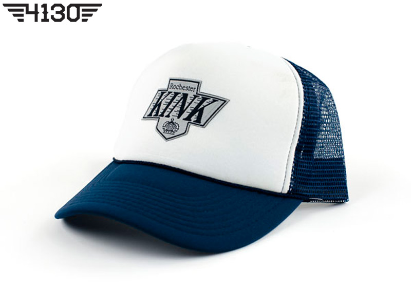 Kink Crowned Mesh Snap Back -Blue-