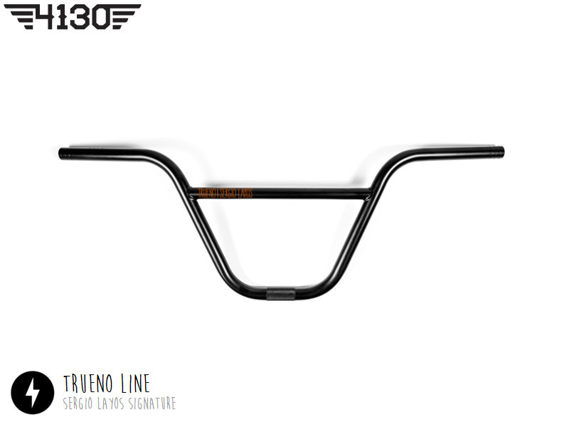 "FLY Trueno Bar 8.5"" Flat Black"