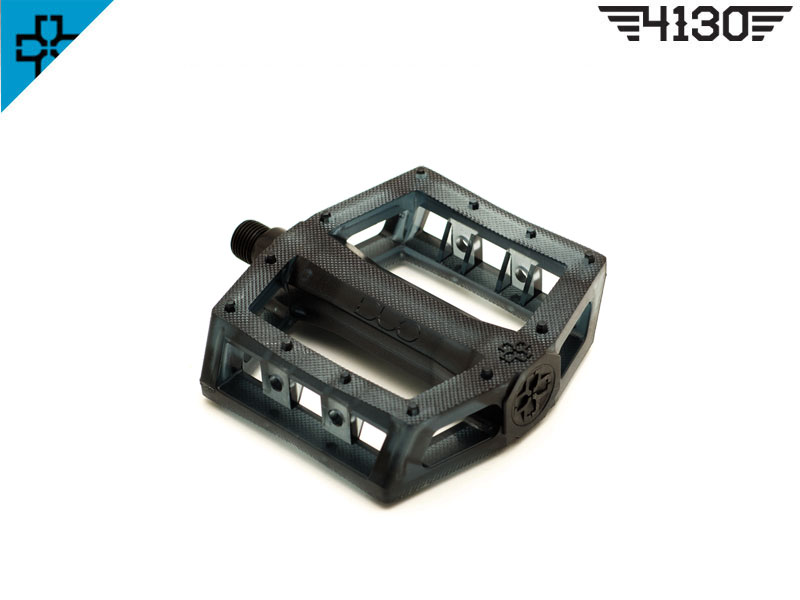 DUO PC Pedals -Clear Smoke Black-